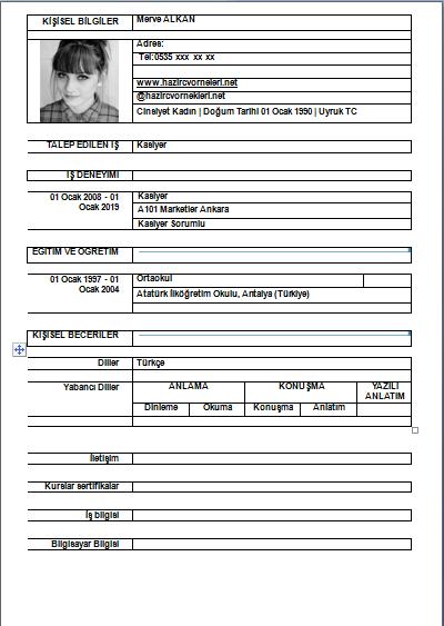 CV İndir
