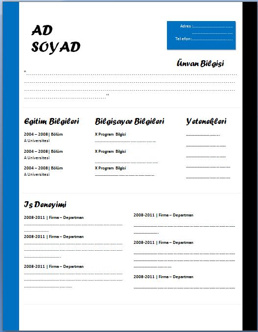 cv-örnekleri-word-2