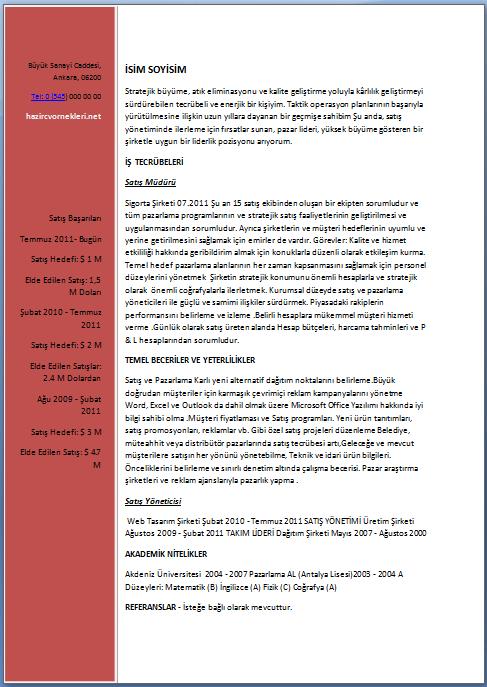 Satış-Danışmanı-Cv-Örneği