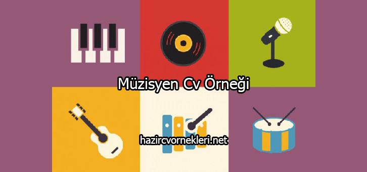 Müzisyen Cv Örneği